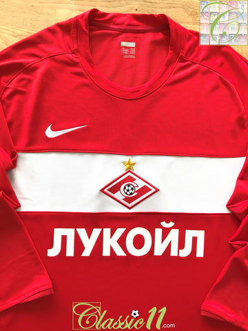 2009 Spartak Moscow Home Player Issue Football Shirt. (XL)