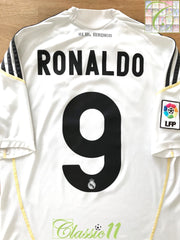 2009/10 Real Madrid Home La Liga Shirt Ronaldo #9 (S)