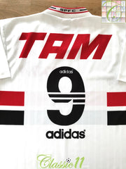 1996 Sao Paulo Home Football Shirt #9 (M)