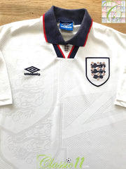 1993/94 England Home Football Shirt (B)