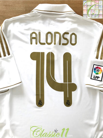 2011/12 Real Madrid Home La Liga Football Shirt Alonso #14 (L)