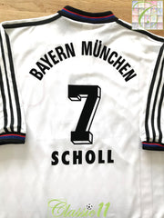 1996/97 Bayern Munich Away Football Shirt Scholl #7 (XL)