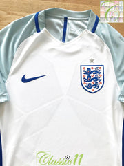 2016/17 England Home Player Issue Football Shirt (S)