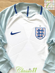 2016/17 England Home Player Issue Football Shirt. (S)