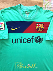 2010/11 Barcelona Away La Liga Football Shirt (XL)
