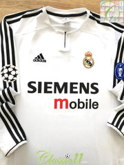 2003/04 Real Madrid Home Champions League Football Shirt. (L)