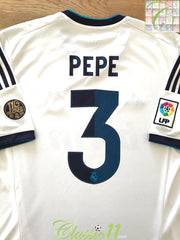2012/13 Real Madrid Home La Liga Football Shirt Pepe #3 (L)