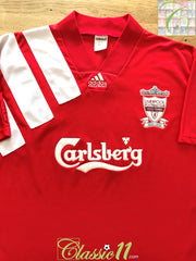 1992/93 Liverpool Home Football Shirt (L)