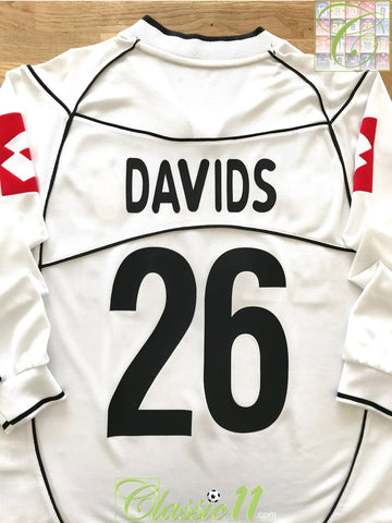 2002/03 Juventus Away Serie A Football Shirt. Davids #26 (S)
