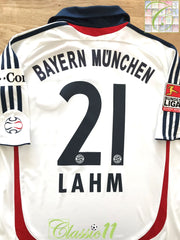 2006/07 Bayern Munich Away Bundesliga Football Shirt Lahm #21 (M)