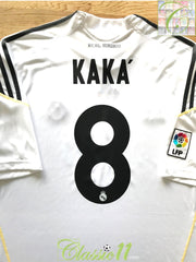 2009/10 Real Madrid Home La Liga Football Shirt Kaka #8 (XXL)