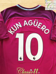 2017/18 Man City Away Premier League Aeroswift Football Shirt Kun Agüero #10 (L)