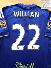 2015/16 Chelsea Home Premier League Football Shirt Willian #22 (M)