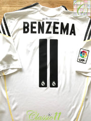 2009/10 Real Madrid Home La Liga Football Shirt Benzema #11 (M)