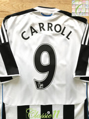 2009/10 Newcastle United Home Premier League Football Shirt Carroll #9 (M)