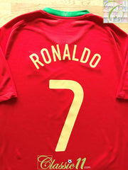 2008/09 Portugal Home Football Shirt Ronaldo #7 (XXL)