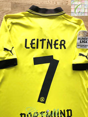 2012/13 Borussia Dortmund Home Bundesliga Football Shirt Leitner #7 (S)