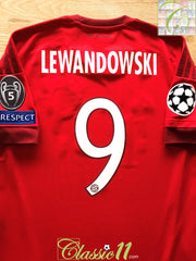 2015/16 Bayern Munich Home Champions League Football Shirt Lewandowski #9 (S)
