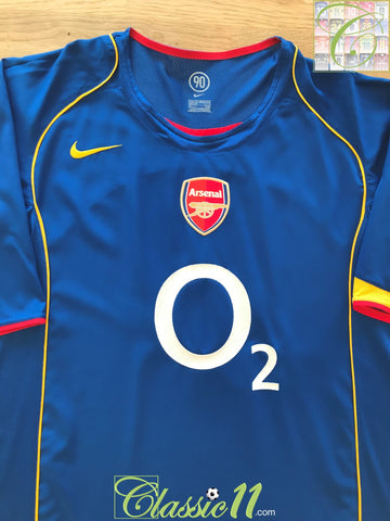 2004/05 Arsenal Away Football Shirt (L)