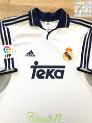 2000/01 Real Madrid La Liga Home Football Shirt (M)