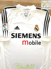 2004/05 Real Madrid Home La Liga Football Shirt (XL)