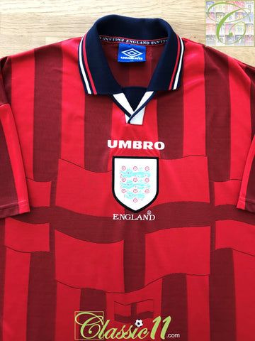 1997/98 England Away Football Shirt (L)
