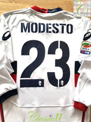 2010/11 Genoa Away Serie A Football Shirt. Modesto #23 (L)