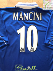 2001/02 Leicester City Home Premier League Football Shirt Mancini #10 (XXL)