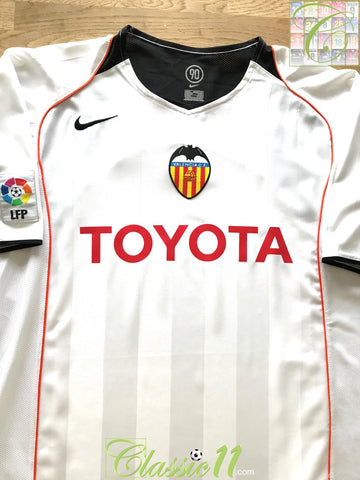 2004/05 Valencia Home La Liga Football Shirt (L)