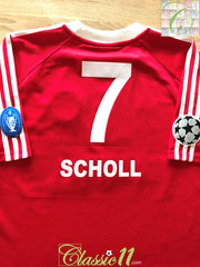 2001/02 Bayern Munich Home Champions League Football Shirt Scholl #7 (XL)