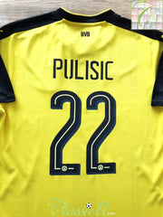 2016/17 Borussia Dortmund Home Football Shirt Pulisic #22 (M)
