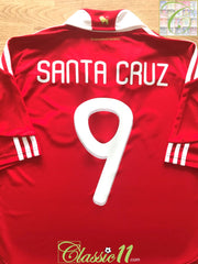 2010/11 Paraguay Home Football Shirt Santa Cruz #9 (M)