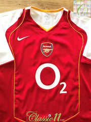 2004/05 Arsenal Home Football Shirt (S)
