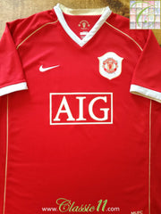 2006/07 Man Utd Home Football Shirt (L)