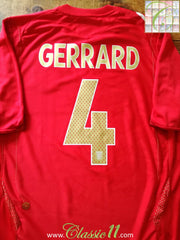 2006/07 England Away Football Shirt Gerrard #4 (L)