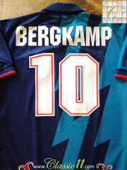 1995/96 Arsenal Away Football Shirt Bergkamp #10 (S)