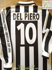 1996 Juventus Home Intercontinental Cup Final Football Shirt Del Piero #10 (XL)