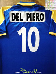 1995/96 Juventus Away European Football Shirt Del Piero #10 (L)