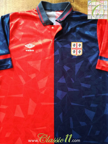 1990/91 Cagliari Home Football Shirt (L)