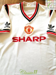 1984/85 Man Utd Away Football Shirt (S)