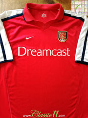 2000/01 Arsenal Home Football Shirt (XL)