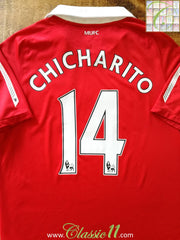 2010/11 Man Utd Home Premier League Football Shirt Chicharito #14 (XL)