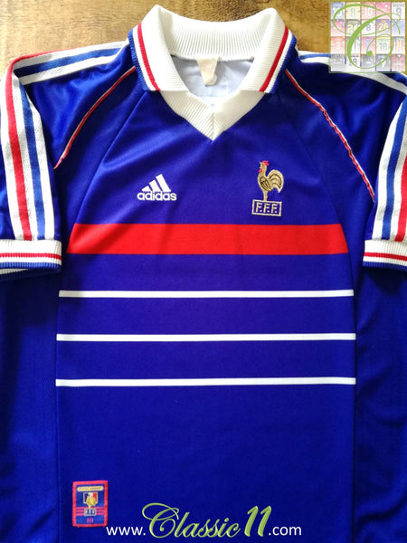 on sale 71c3c a333b 1998 France Home World Cup Football Shirt / Old Vintage ...