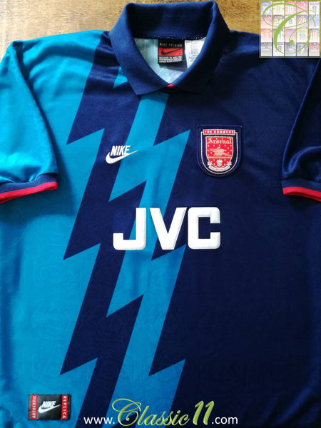pretty nice 474bb 8e170 1995/96 Arsenal Away Football Shirt / Old Nike Gunners ...