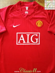 2007/08 Man Utd Home Football Shirt (3XL)