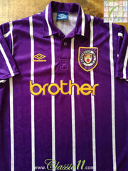 1992/93 Man City Away Football Shirt (L)