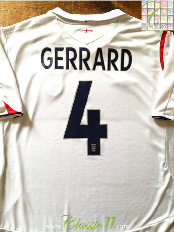 2005/06 England Home Football Shirt Gerrard #4 (L)