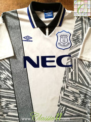 1994/95 Everton Away Football Shirt (L)