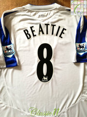 2004/05 Everton Away Premier League Football Shirt Beattie #8 (XL)