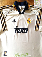 1998/99 Real Madrid Home Football Shirt (L)